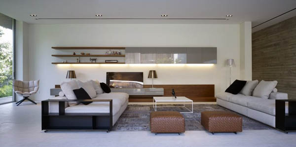 Modern Living Room of the JKC2 House by ONG&ONG