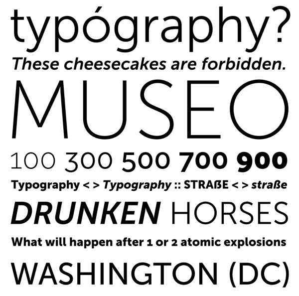 Some text and type samples of the font.