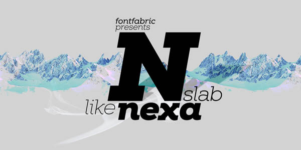 Nexa Slab Font Family by Fontfabric