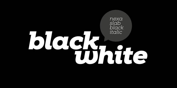 Black & italic version of the Nexa Slab typeface.
