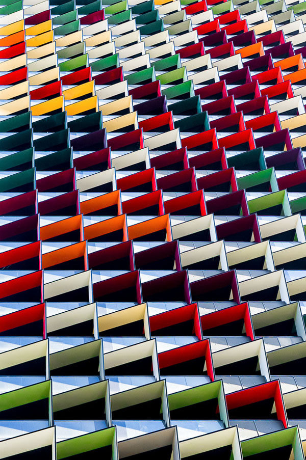 Origami - Colorful Architecture Pattern - Photography by Jared Lim