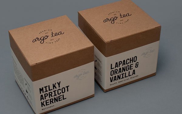 Packaging and Label Design by Tom Clayton for Argo Café's Tea Range