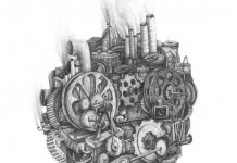 Pencil on Paper Drawing by Stefan Zsaitsits