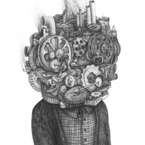 Pencil on Paper Drawings by Stefan Zsaitsits