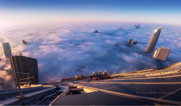 Photographed from 98th floor of the Trust Tower in Abu Dhabi by Beno Saradzic