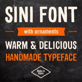 Sini - Hand Lettered Font by Hiekka Graphics