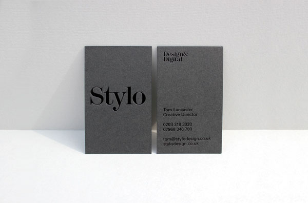 Stylo - Embossing Effect Business Card