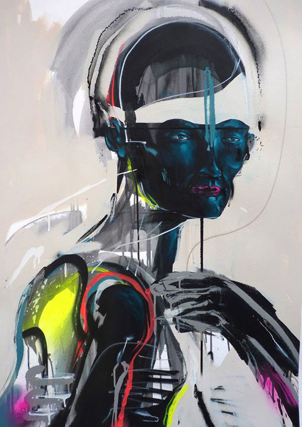 The Mask - Painting by Mike Carr