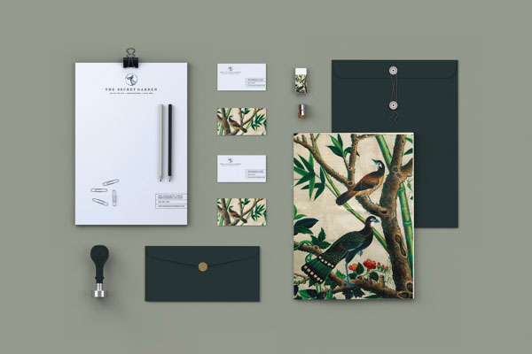 the secret garden stationery design by booth