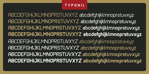Typonil - Font Family by Ahmet Altun