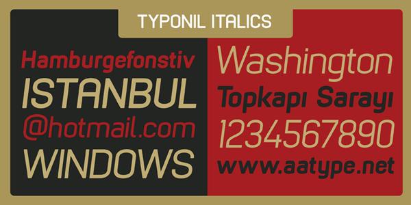 Typonil Italics