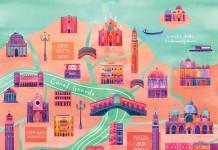 Venice - Illustrated City Map - Art Print by Marisa Seguin