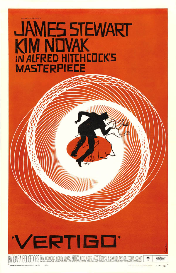 Vertigo Movie Poster by Saul Bass