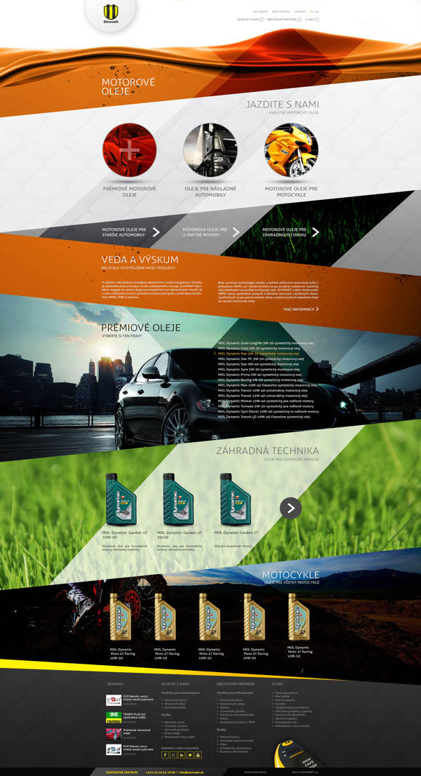 Sub Page - Web UI Design Concept by Provoco for an Oil Rafinery in Slovakia