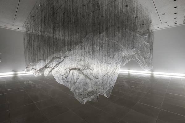 Art Installation - Reverse of Volume by Yasuaki Onishi