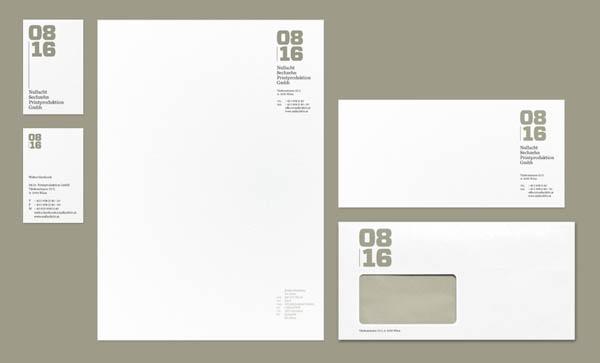 08/16 Printproduktion GmbH - Corporate Design by Albert Exergian