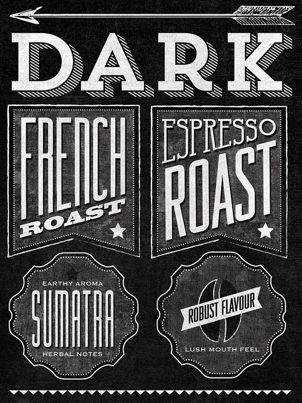 Starbucks Chalkboard Roast Guide Mural by Jaymie McAmmond - Detail