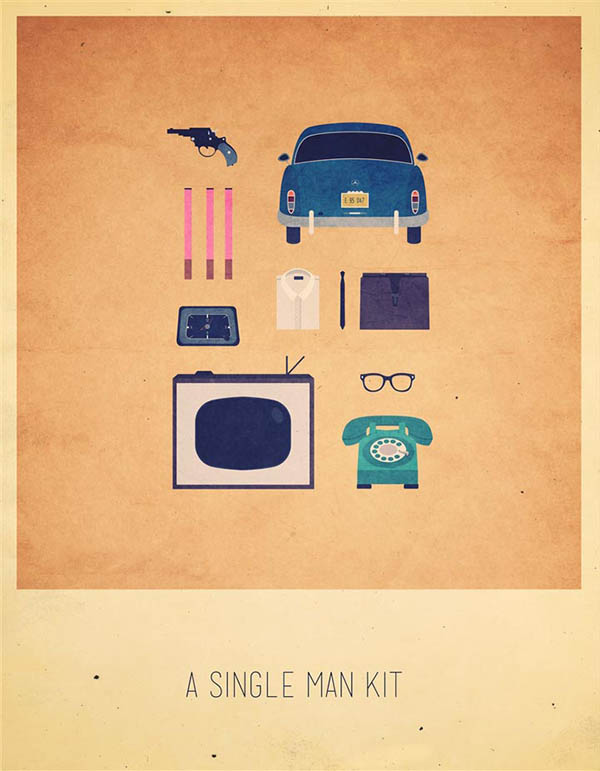 A Single Man Kit - Minimalist Poster Illustration by Alizée Lafon