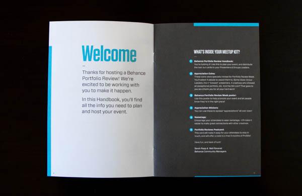Behance Portfolio Reviews - Brochure Wecome Page