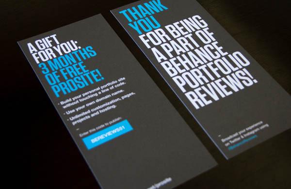 Behance Portfolio Reviews - Event Material