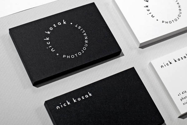 Business Cards for Photojournalist Nick Kozak