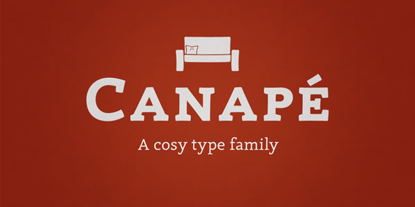 Canapé - A Cosy Type Family by Sebastian Nagel