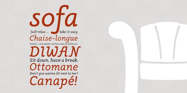 Canapé - Font Family by Sebastian Nagel