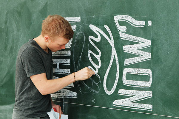 Chalk Lettering by Coming Soon for Modus Magazine