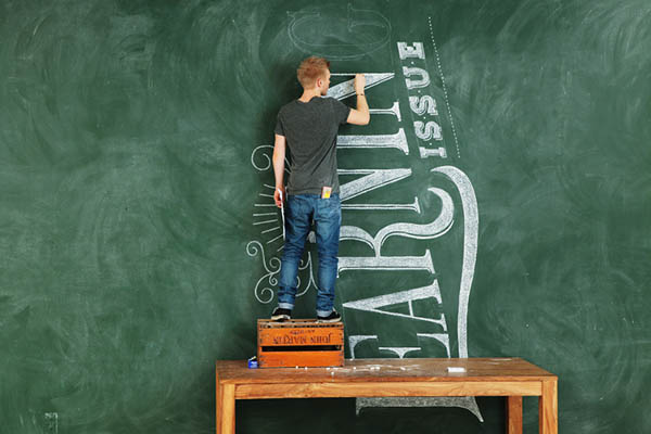 Chalk Typography by Coming Soon for Modus Magazine