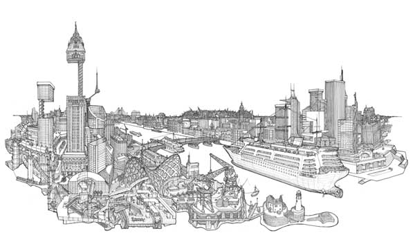 City of Barriers - Illustration by Toby Melville-Brown
