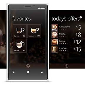 Coffee app design by michael novoselov for Interior design web app