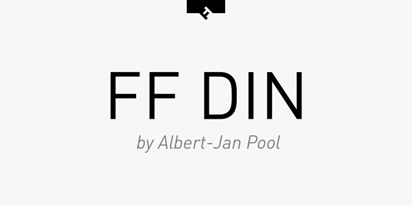 FF DIN - Font Family by Albert-Jan Pool