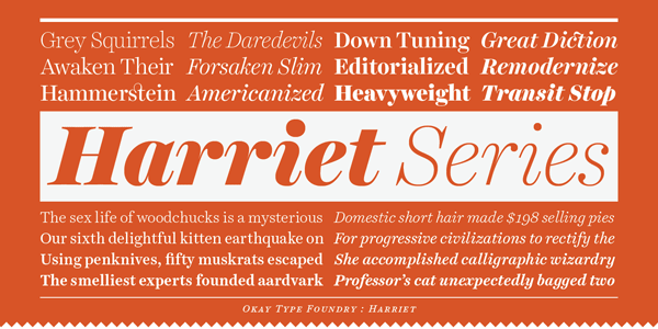 Harriet Series - Serif Font Family by Okay Type