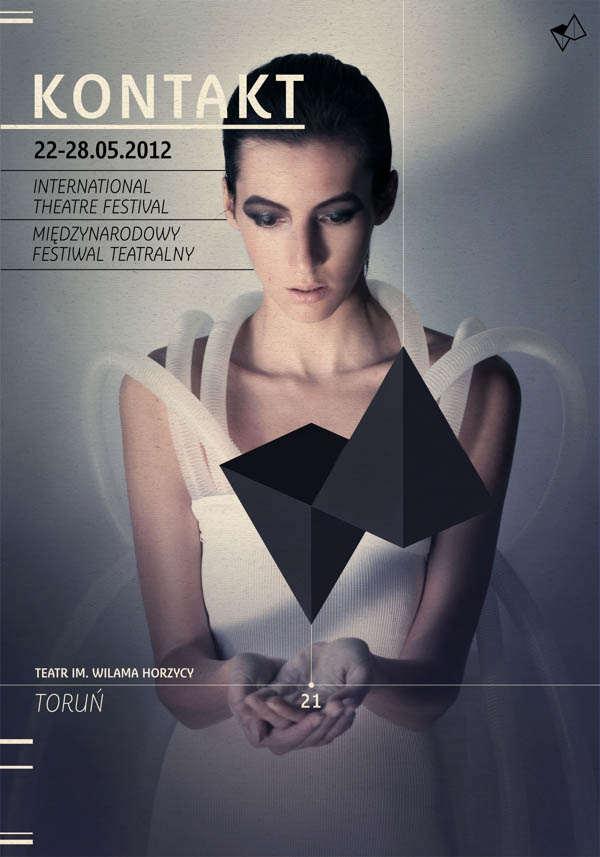 Kontakt – International Theatre Festival - Poster by Radek Staniec