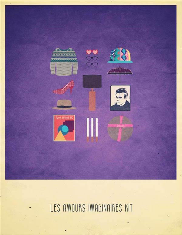 Les Amours Imaginaires Kit - Minimalist Poster Illustration by Alizée Lafon