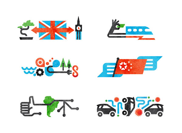 MONOCLE Icon Illustrations by Matt Lehman Studio