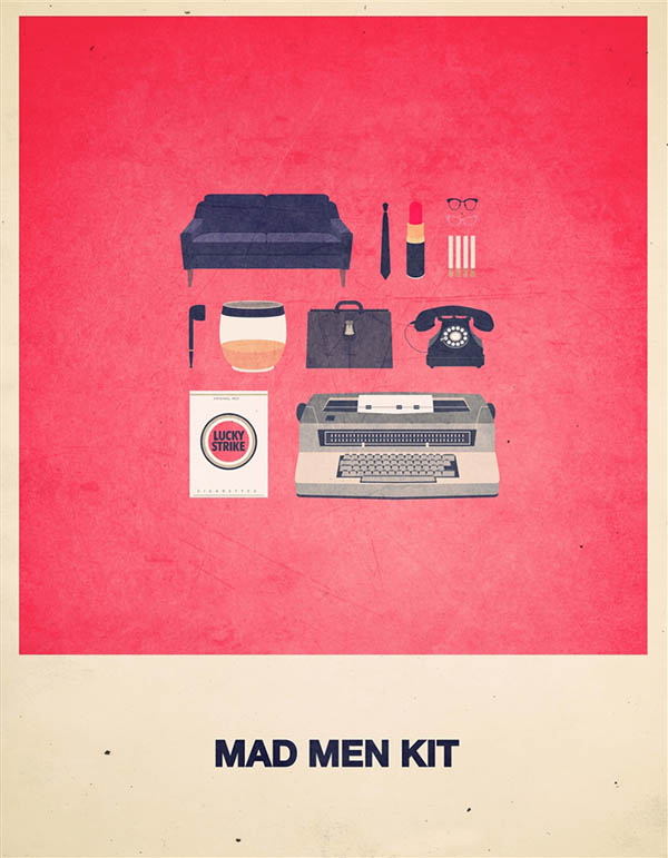Mad Men Kit - Minimalist Poster Illustration by Alizée Lafon