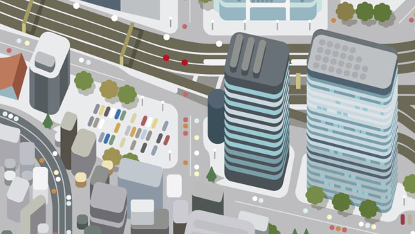 Marunouchi Map Illustration by studio Hey for Monocle magazine
