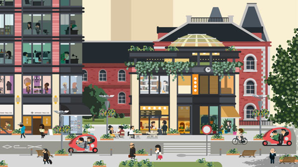Marunouchi Illustration by studio Hey for Monocle magazine