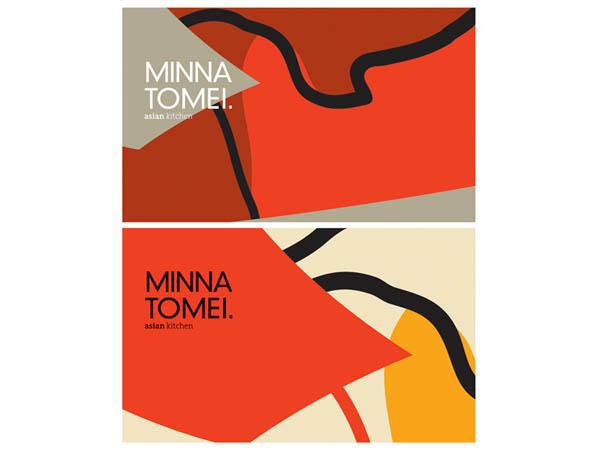 Minna Tomei - Asian Kitchen - Restaurant Branding by Koniak Design