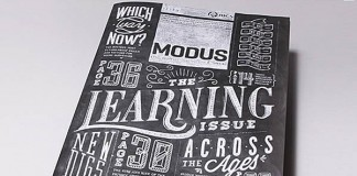 Modus Magazine - Chalk Typography Cover Design by Coming Soon