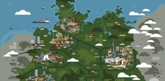 Monocle magazine - Map of Germany by Studio Hey