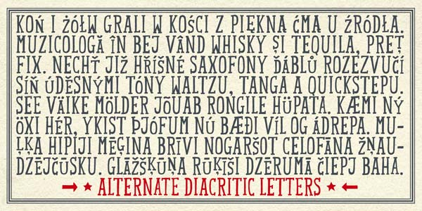 Mr Lucky - Alternate Diacritic Letters