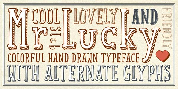 Mr Lucky - Slab Serif Hand-Drawn Narrow Typeface by Hipopotam Studio