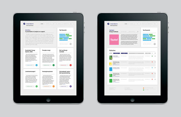 NER - Website Design by Lundgren + Lindqvist - iPad