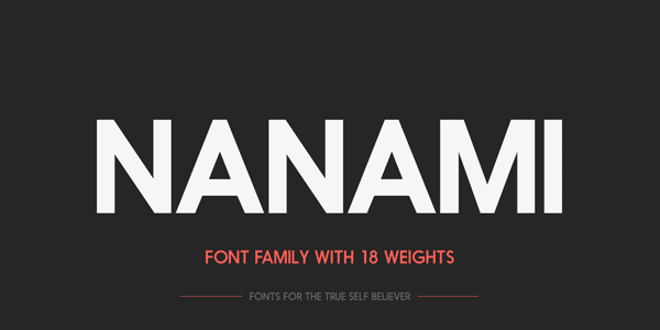 Nanami Font Family with 18 Weights