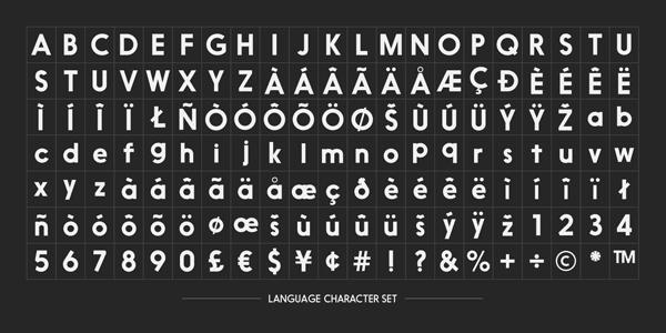 Nanami Language Character Set