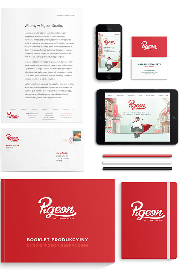 Pigeon Rebranding - Stationery