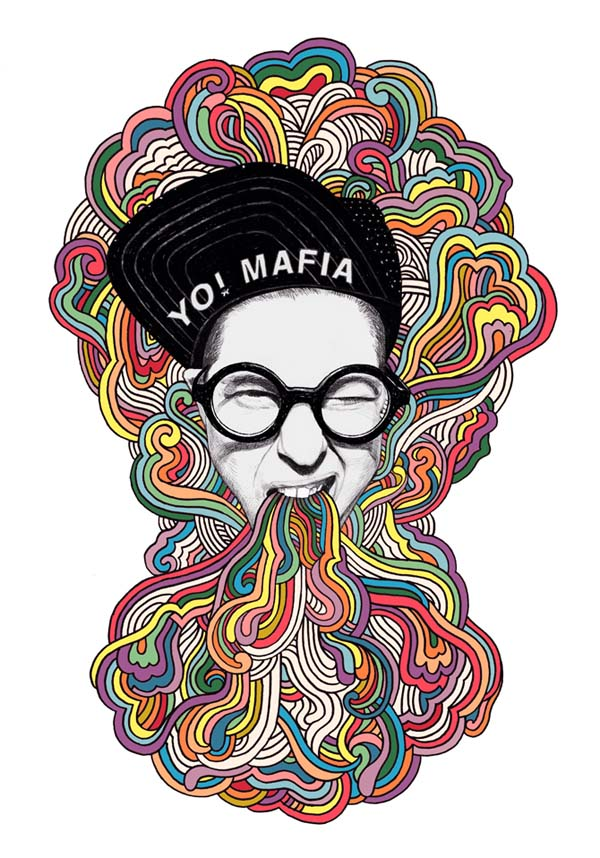 Rebranding project by Anna Higgie for Melbourne based DJ YO! MAFIA