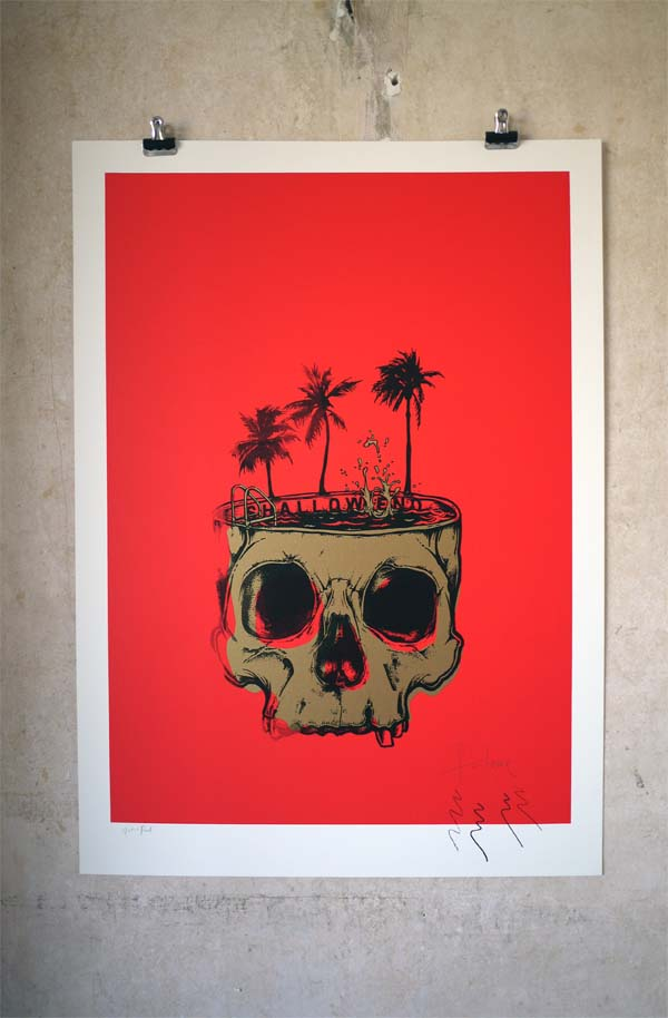 Shallow End - A print about escapism by Fantome